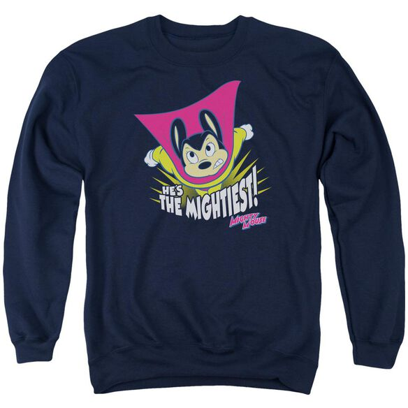 Mighty Mouse The Mightiest Adult Crewneck Sweatshirt