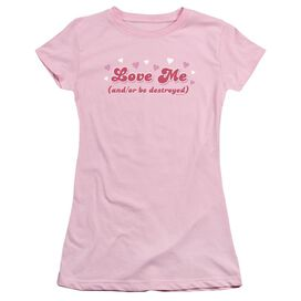 Love Me Short Sleeve Junior Sheer T-Shirt