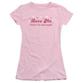 Love Me Short Sleeve Junior Sheer T-Shirt