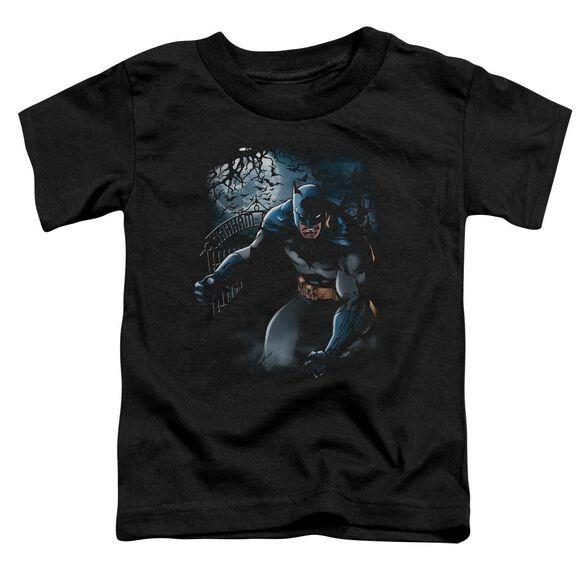 Batman Light Of The Moon Short Sleeve Toddler Tee Black Lg T-Shirt