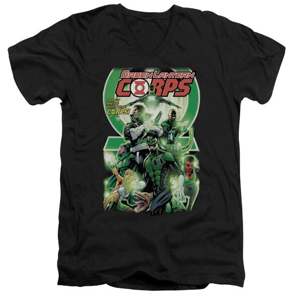 Green Lantern Gl Corps #25 Cover Short Sleeve Adult V Neck T-Shirt