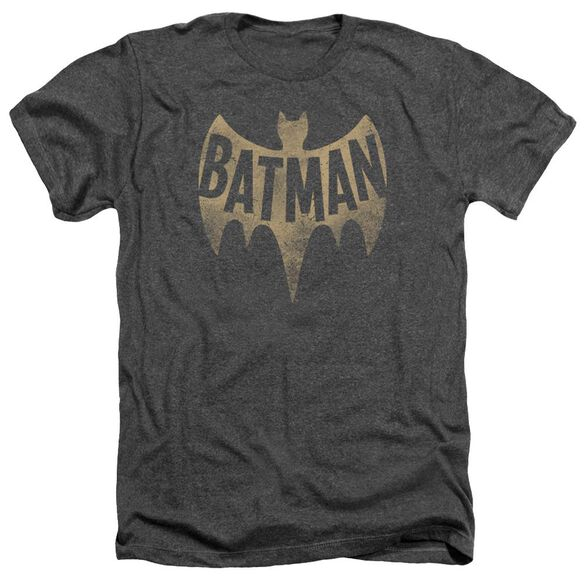 Batman Classic Tv Vintage Logo Adult Heather