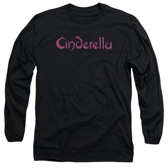 Cinderella Logo Rough Long Sleeve Adult T-Shirt
