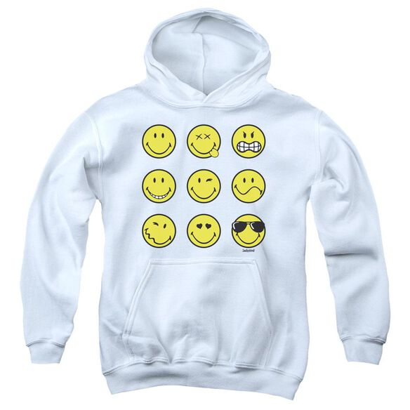 Smiley World Nine Faces Youth Pull Over Hoodie