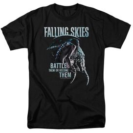 Falling Skies Battle Or Become Short Sleeve Adult T-Shirt