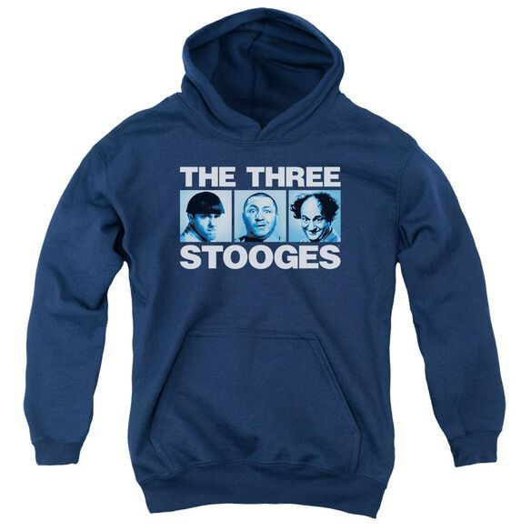Three Stooges Three Squares Youth Pull Over Hoodie