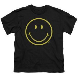 Smiley World Yellow Line Smiley Short Sleeve Youth T-Shirt