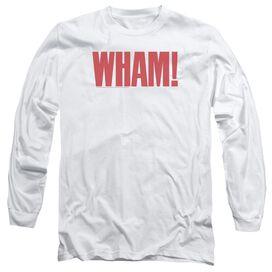 Wham Logo Long Sleeve Adult T-Shirt