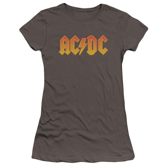 Acdc Logo Premium Bella Junior Sheer Jersey