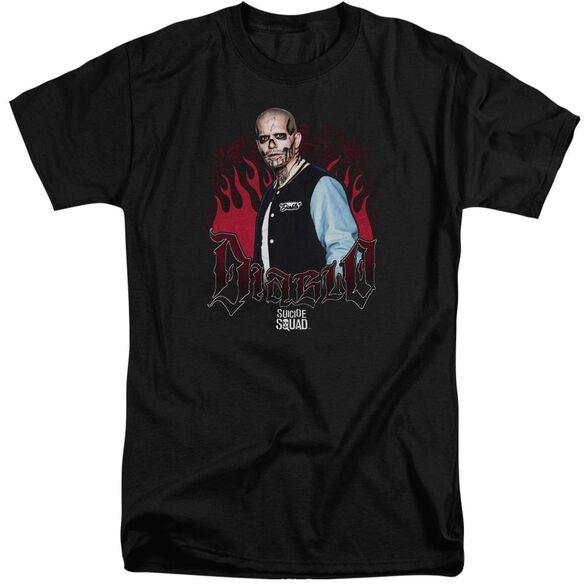 Suicide Squad Diablo Flames Short Sleeve Adult Tall T-Shirt