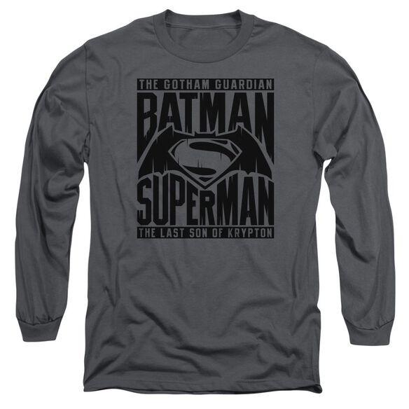 Batman V Superman Title Fight Long Sleeve Adult T-Shirt