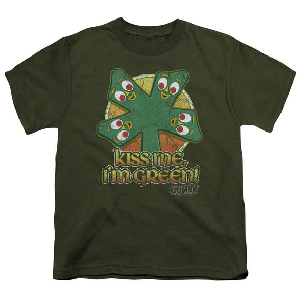 GUMBY KISS ME - S/S YOUTH 18/1 - MILITARY GREEN T-Shirt