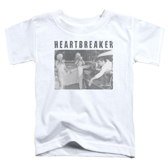 Elvis Heartbreaker Short Sleeve Toddler Tee White T-Shirt