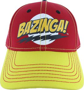 Big Bang Theory Bazinga Red Yellow Hat