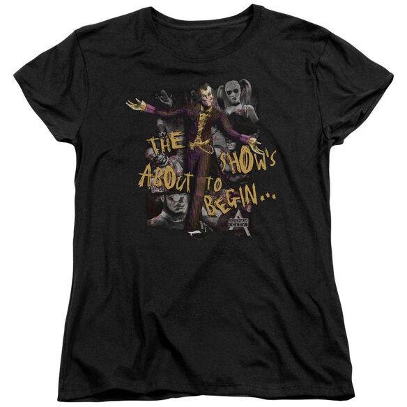 Arkham City About To Begin Short Sleeve Womens Tee T-Shirt