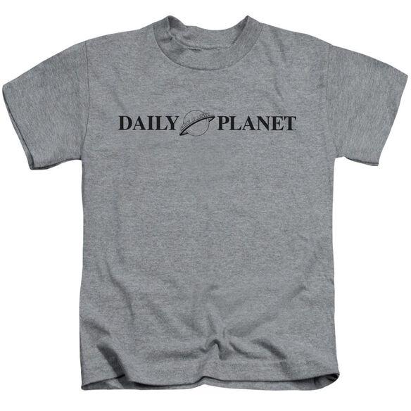 Superman Daily Planet Logo Short Sleeve Juvenile Athletic Heather T-Shirt