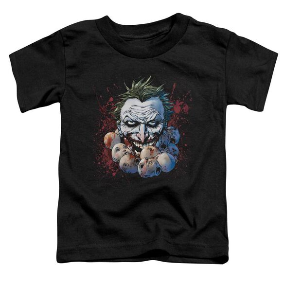 Jla Doll Heads Short Sleeve Toddler Tee Black T-Shirt