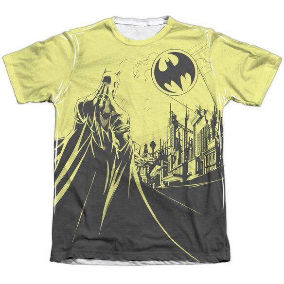 Batman Bat Signal Adult 65 35 Poly Cotton Short Sleeve Tee T-Shirt