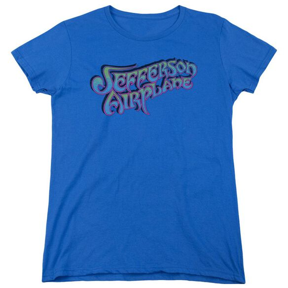 Jefferson Airplane Gradient Logo Short Sleeve Women's Tee Royal T-Shirt