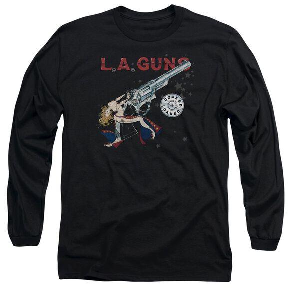 La Guns Cocked And Loaded Long Sleeve Adult T-Shirt