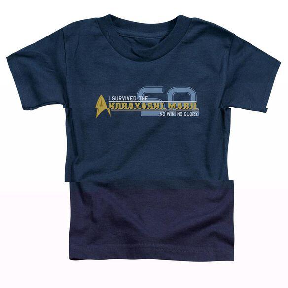 STAR TREK I SURVIVED - S/S TODDLER TEE - NAVY - T-Shirt
