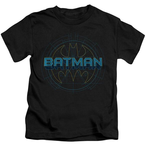 Batman Bat Tech Logo Short Sleeve Juvenile Black Md T-Shirt
