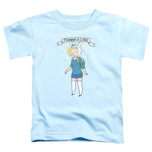 Adventure Time Fionna & Cake Short Sleeve Toddler Tee Light Blue T-Shirt