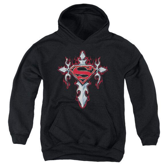 Superman Gothic Steel Logo Youth Pull Over Hoodie