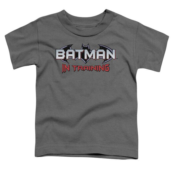 Batman Batman In Training Short Sleeve Toddler Tee Charcoal T-Shirt