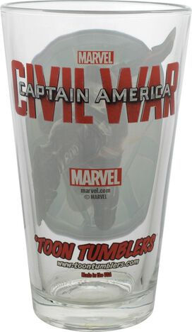 Captain America Civil War Machine TT Pint Glass