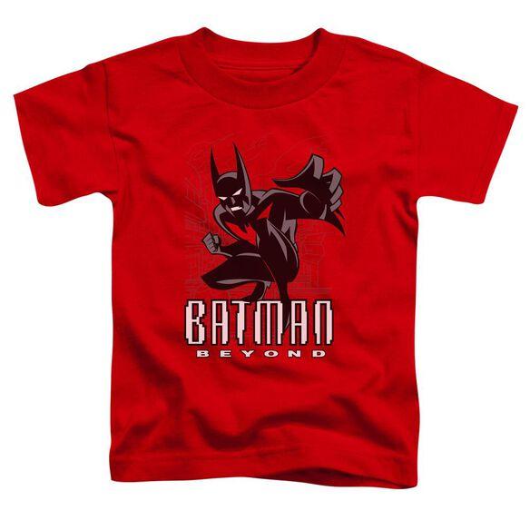 Batman Beyond Engage Short Sleeve Toddler Tee Red T-Shirt