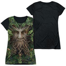 Anne Stokes Oak King Short Sleeve Junior Poly Black Back T-Shirt