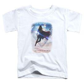 Supergirl Endless Sky Short Sleeve Toddler Tee White T-Shirt