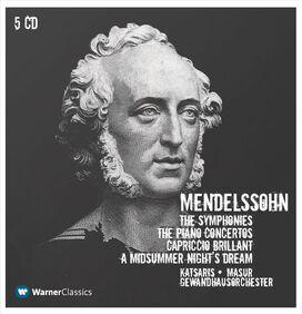 Kurt Masur - Mendelssohn: The Symphonies; The Piano Concertos; Capriccio Brilliant; A Midsummer Night's Dream [Box Set]