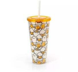 Gudetama Insulated Tumbler With Lid & Straw