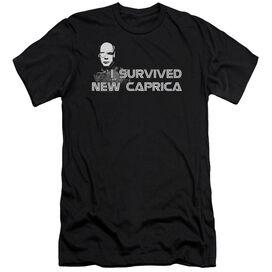 Bsg I Survived New Caprica-premuim Canvas Adult Slim