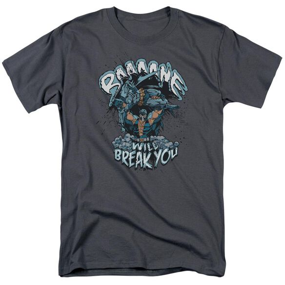Batman Bane Will Break You Short Sleeve Adult Charcoal T-Shirt