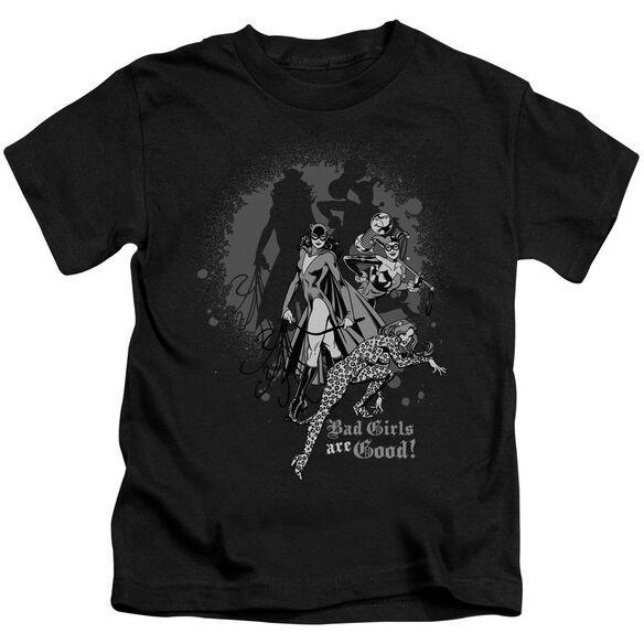 Dc Bad Girls Are Good Short Sleeve Juvenile Black T-Shirt