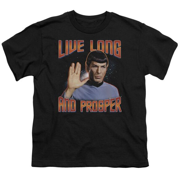 ST ORIGINAL LIVE LONG AND PROSPER - S/S YOUTH 18/1 - BLACK T-Shirt