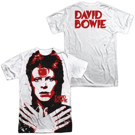 David Bowie Piercing Gaze (Front Back Print) Short Sleeve Adult Poly Crew T-Shirt