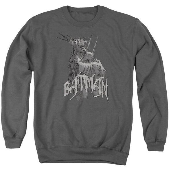 Batman Scary Right Hand Adult Crewneck Sweatshirt