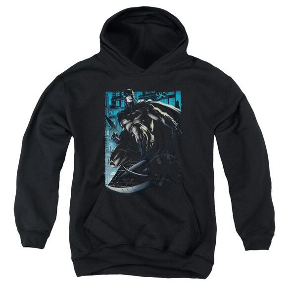 Batman Knight Falls In Gotham Youth Pull Over Hoodie