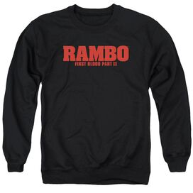 Rambo:First Blood Ii Logo Adult Crewneck Sweatshirt