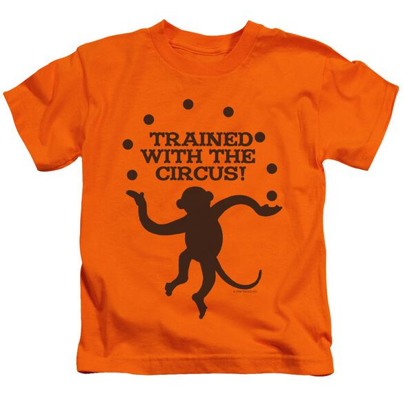 Trained With The Circus Short Sleeve Juvenile Orange T-Shirt