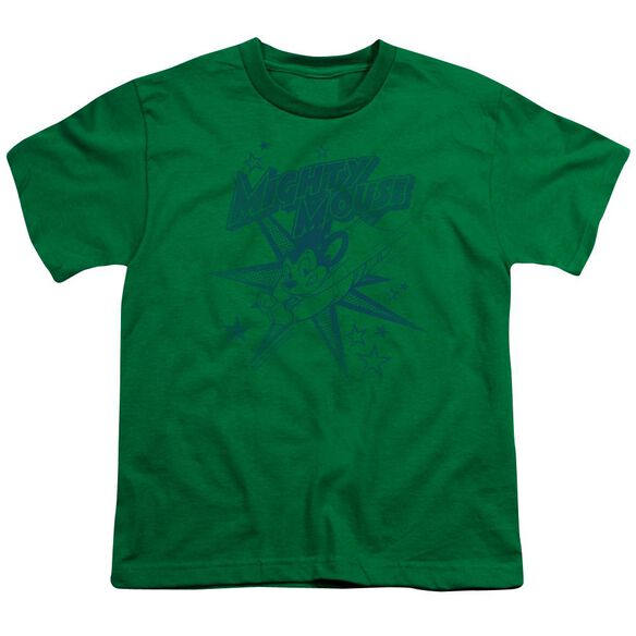 Mighty Mouse Mighty Mouse Short Sleeve Youth Kelly T-Shirt