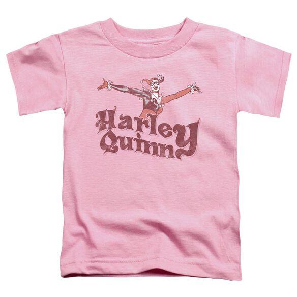 Dc Harley Hop Vintage Short Sleeve Toddler Tee Pink Sm T-Shirt