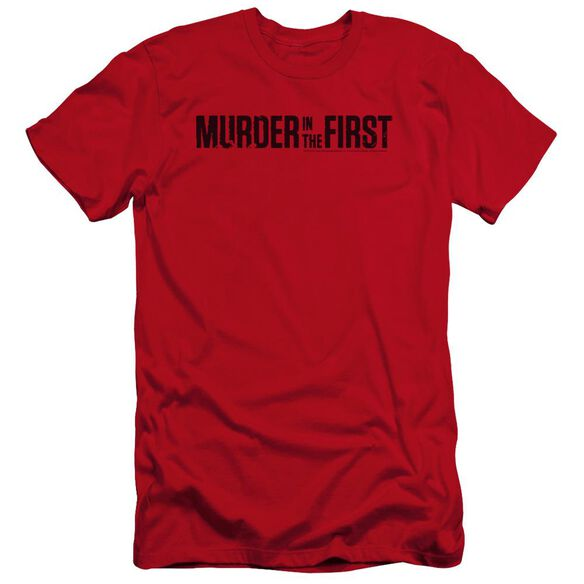 Murder In The First Logo Premuim Canvas Adult Slim Fit