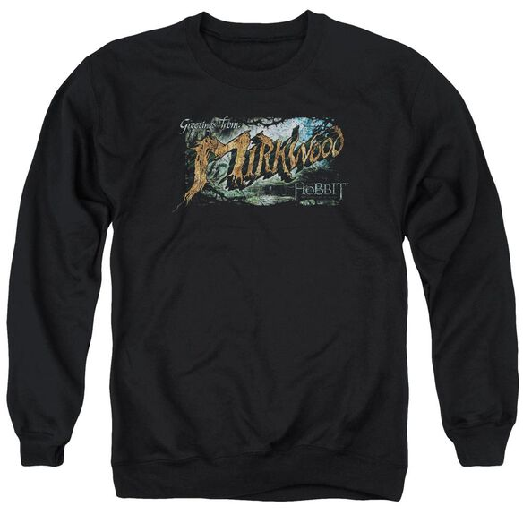 Hobbit Greetings From Mirkwood Adult Crewneck Sweatshirt