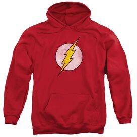 Dc Flash Logo Distressed Adult Pull Over Hoodie