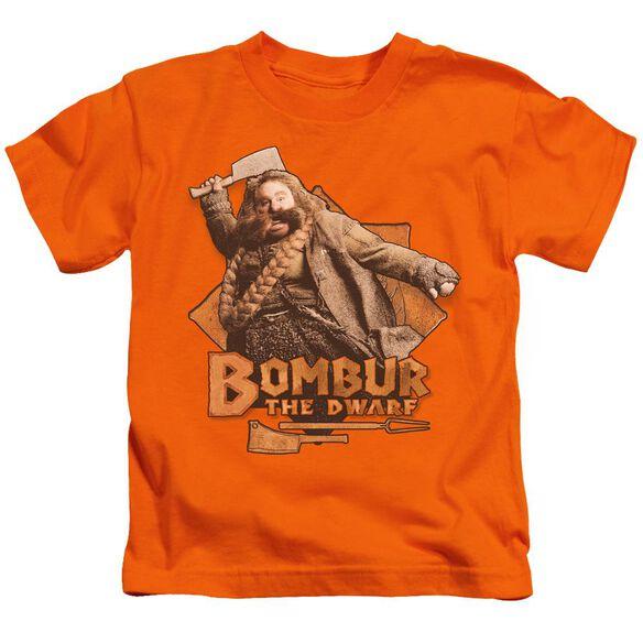 The Hobbit Bombur Short Sleeve Juvenile Orange T-Shirt